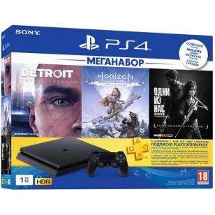 SONY PlayStation 4 Slim 1Tb (Horizon Zero Dawn + Detroit + The Last of Us + PSPlus 3М)