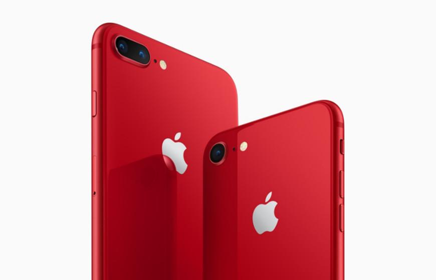 Apple представила «красные» iPhone 8 и iPhone 8 Plus специальной серии RED Special Edition.